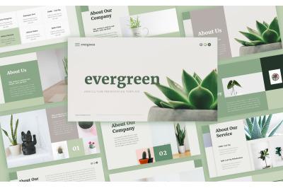 Evergreen Minimalist Presentation Template