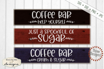 Coffee Bar Mini Bundle - Cream Sugar Coffee - SVG