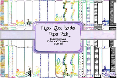Music Notes Border Paper Pack