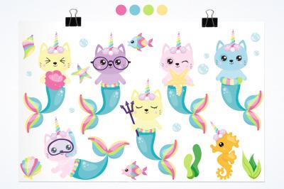 Mermaid Unicorn Cat