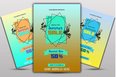 Mega Summer Sale Flyer