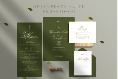 GREENPEACE Wedding Invitation Template
