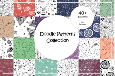 Doodle Patterns Vector Collection