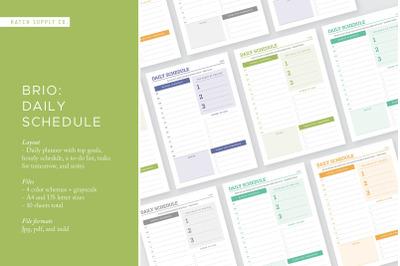 Brio: Daily Schedule
