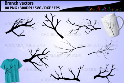 Branch silhouette / bare branch template