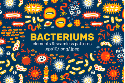 BACTERIUMS patterns & illustrations