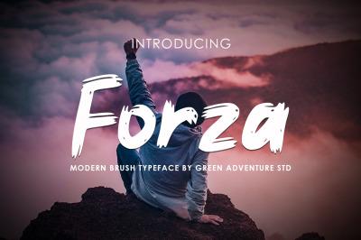 Forza - Brush Typeface Font