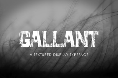 GALLANT - A Textured Display Font
