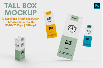 Kraft Box With Glossy Can Mockup