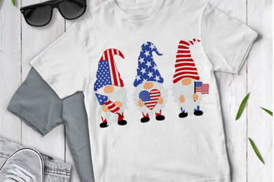 Patriotic Gnomes SVG Cut Files, 4th of July Svg, American Gnome Svg