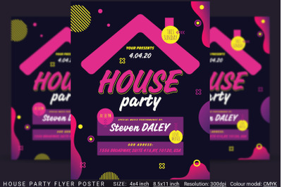 House Party Flyer Poster
