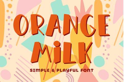 Orange Milk