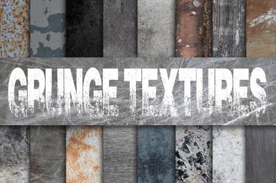 Grunge Metal Textures Digital Paper