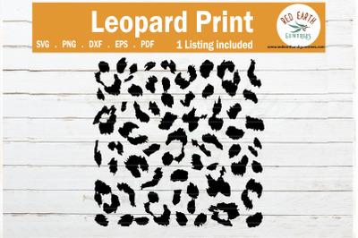 Leopard spots print svg, cheetah print template SVG,PNG,DXF