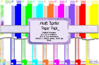 Heart Border Paper Pack