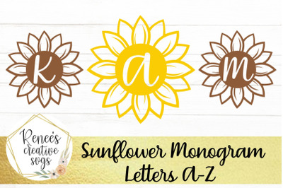 Sunflower Monogram Letters