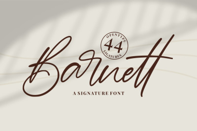 Barnett - Signature Font