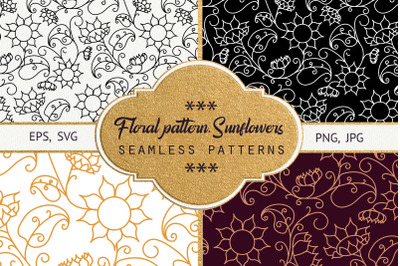 Floral pattern. Sunflowers