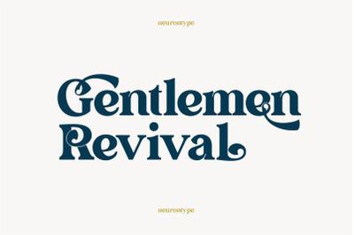 Gentlemen Revival Font