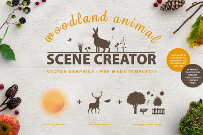 Woodland Animal Scene Creator