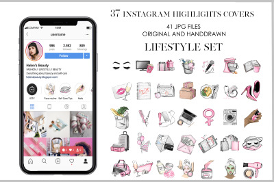 Instagram highlights stories icons covers social media icons