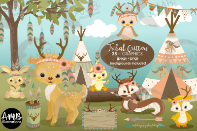 Woodland animals clipart AMB-2772