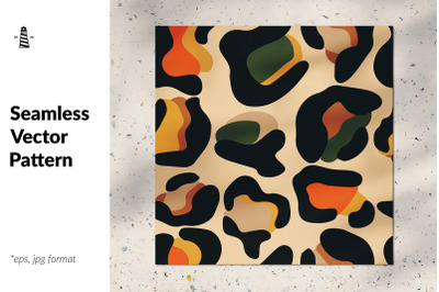 Exotic leopard skin seamless pattern