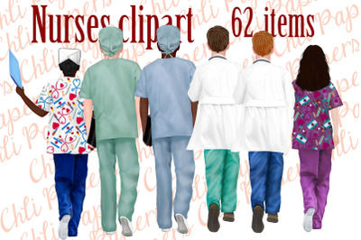 Nurses clipart,Medical clipart,Custom Nurse,Doctor clipart