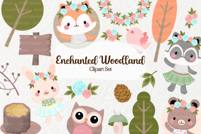 Enchanted Woodland Clipart Set