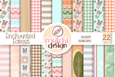Enchanted woodland Digital Papers