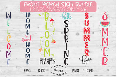 Home Sweet Home Bundle - A Collection Of Front Porch Sign SVGs