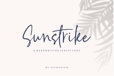 Sunstrike a Handwritten Script Font