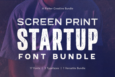 Screen Print Startup Fonts Bundle