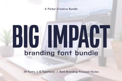 Big Impact Branding Font Bundle