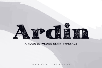 Ardin - Rugged Wedge Serif