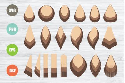 Earrings SVG Bundle