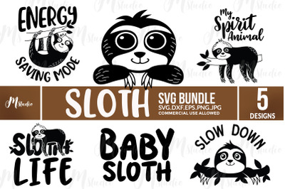 Sloth Svg Bundle