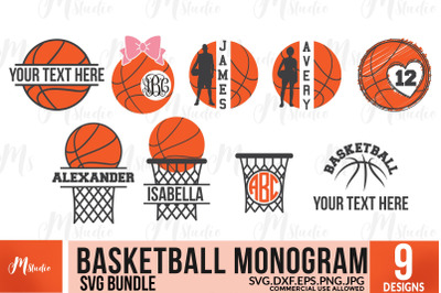 Basketball SVG Monograms