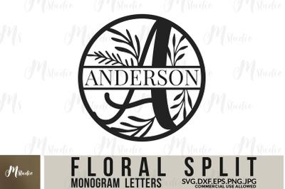 Floral Split Monogram