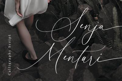 Senja Mentari - Modern Script