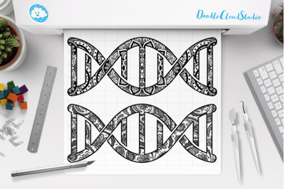 DNA Mandala SVG, Dna Symbol Mandala, Dna Chain Svg