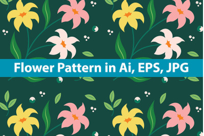 Flower Pattern Background Art