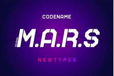 Mars NT Stencil Font