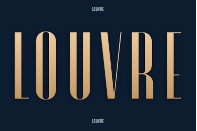 Louvre Display Font