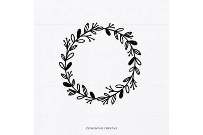 Spring Wreath SVG Cut File | Spring Clip Art