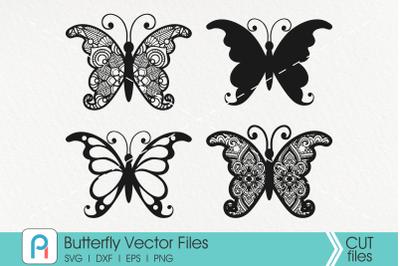 Butterfly Svg, Butterfly Mandala Svg, Mandala Svg, Zentangle Svg