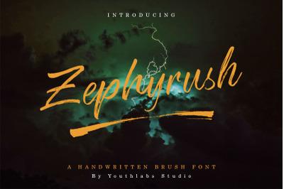 Zephyrush Handwritten Brush Font