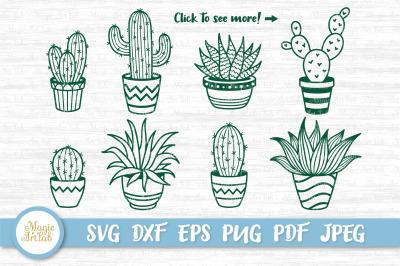 Cactus clipart, Succulent svg, Cactus bundle, Succulent cut file