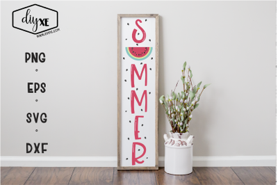 Summer - A Front Porch Sign SVG Cut File