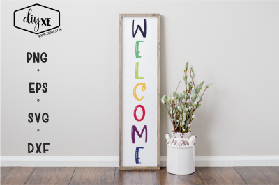 Welcome - A Front Porch Sign SVG Cut File
